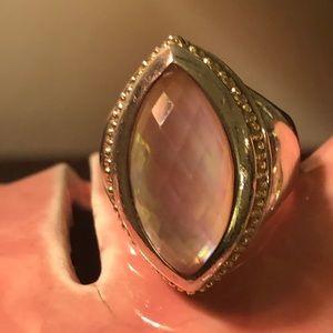 Venus rose mother of pearl ring